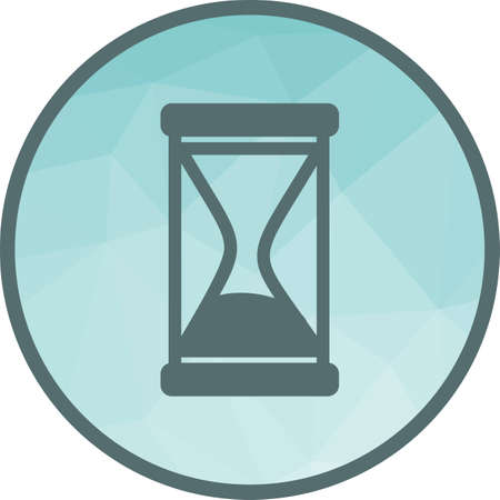 Glass, hourglass, sand icon vector image. Can also be used for party. Suitable for use on web apps, mobile apps and print media.  イラスト・ベクター素材