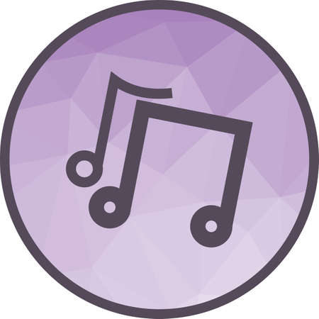 Music, play, sound icon vector image. Can also be used for party. Suitable for use on web apps, mobile apps and print media.  イラスト・ベクター素材