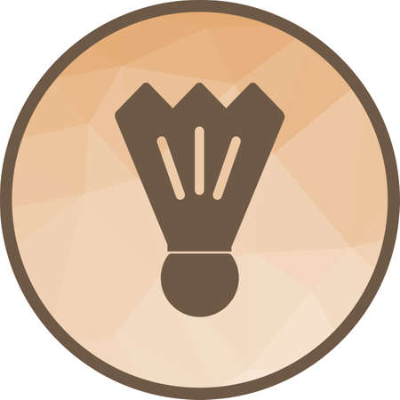 Badminton, sport, shuttlecock icon vector image. Can also be used for fitness and sports. Suitable for web apps, mobile apps and print media.  イラスト・ベクター素材