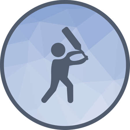 Cricket, bat, player icon vector image. Can also be used for fitness and sports. Suitable for web apps, mobile apps and print media.