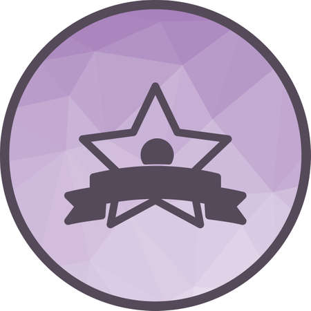 Badge, winners, player icon vector image. Can also be used for fitness and sports. Suitable for web apps, mobile apps and print media.