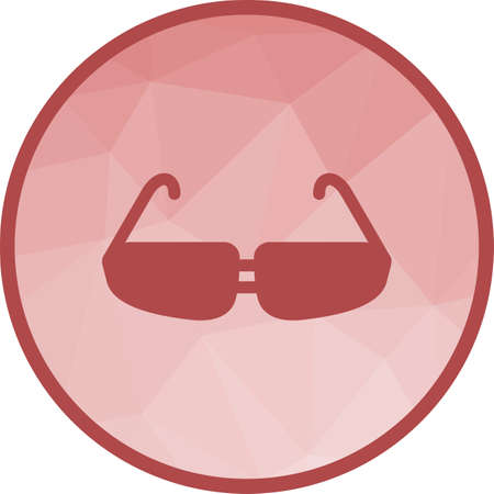 Glasses, eye, design icon vector image. Can also be used for fitness and sports. Suitable for web apps, mobile apps and print media.  イラスト・ベクター素材