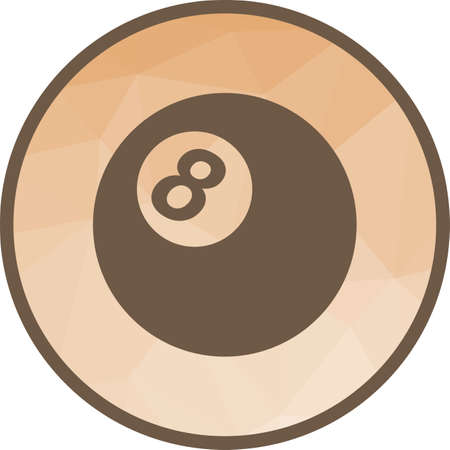 Billiard, white, ball icon vector image. Can also be used for fitness and sports. Suitable for web apps, mobile apps and print media.  イラスト・ベクター素材
