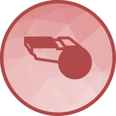 Whistle, referee, coach icon vector image. Can also be used for fitness and sports. Suitable for web apps, mobile apps and print media.
