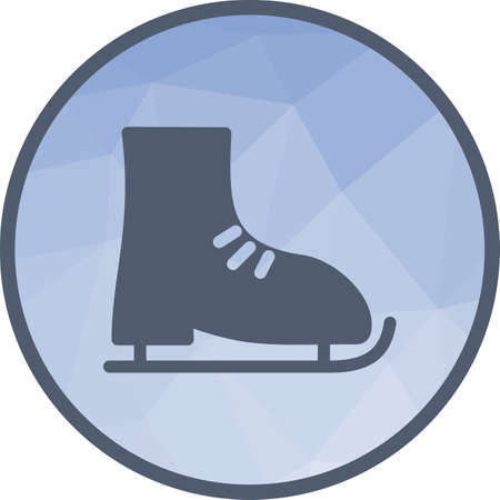 Ice, skating, skates icon vector image. Can also be used for fitness and sports. Suitable for web apps, mobile apps and print media.