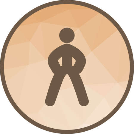 Fitness, sport, running icon vector image. Can also be used for fitness and sports. Suitable for web apps, mobile apps and print media.
