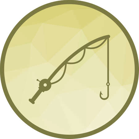 Fishing, rod, reel icon vector image. Can also be used for camping. Suitable for web apps, mobile apps and print media.  イラスト・ベクター素材