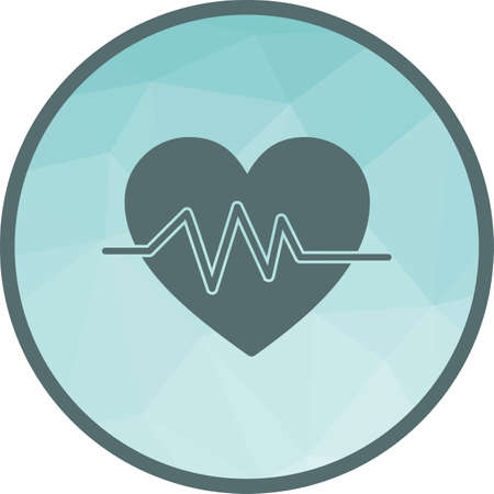 Heart, rate, line icon vector image. Can also be used for fitness and sports. Suitable for web apps, mobile apps and print media.