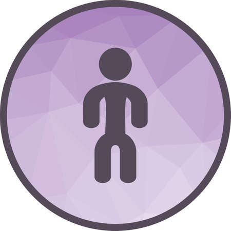Person, happy, man icon vector image. Can also be used for fitness and sports. Suitable for web apps, mobile apps and print media.