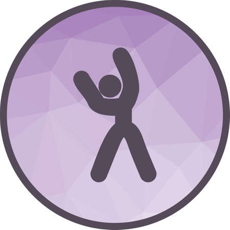 Stretch, athlete, exercise icon vector image. Can also be used for fitness and sports. Suitable for web apps, mobile apps and print media.  イラスト・ベクター素材