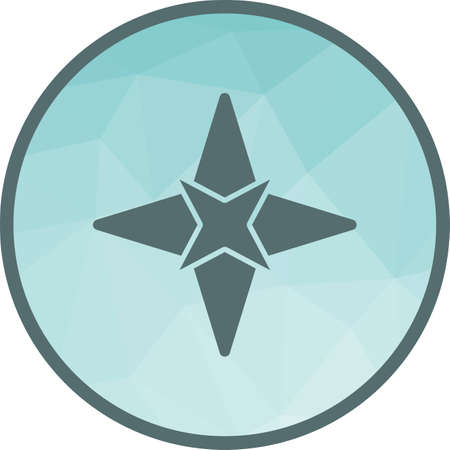 Star, party, award icon vector image. Can also be used for camping. Suitable for use on web apps, mobile apps and print media.