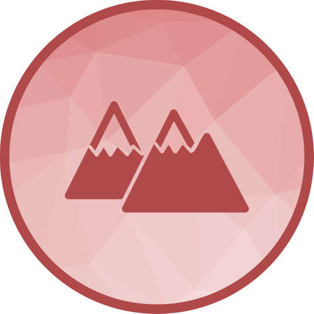 Mountains, landscape, nature icon vector image. Can also be used for camping. Suitable for web apps, mobile apps and print media.