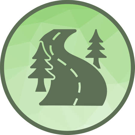 Road, landscape, drive icon vector image. Can also be used for camping. Suitable for web apps, mobile apps and print media.  イラスト・ベクター素材