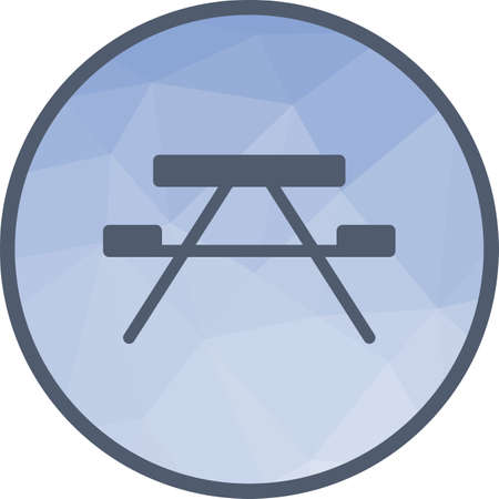 Bench, wooden, forest icon vector image. Can also be used for camping. Suitable for web apps, mobile apps and print media.