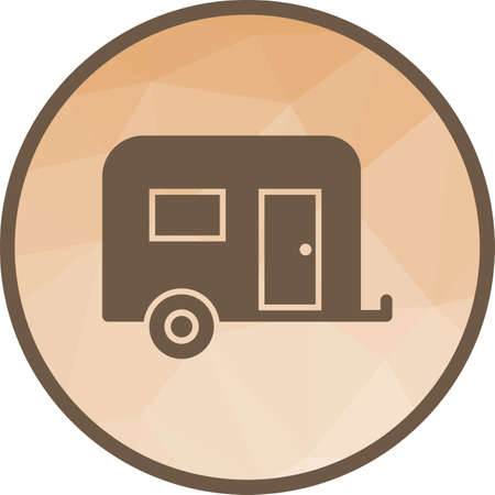 Trailer, camping, caravan icon vector image.Can also be used for camping. Suitable for mobile apps, web apps and print media.