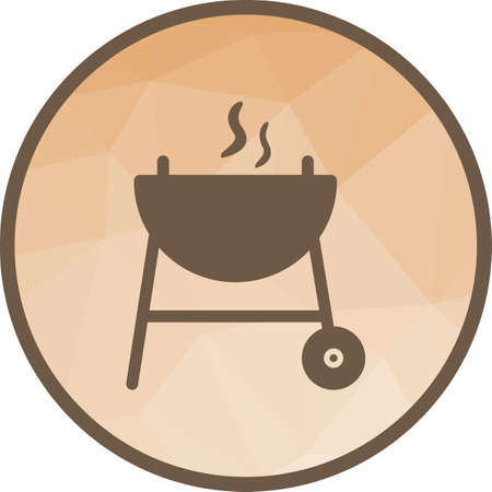 Food, barbeque, grill icon vector image. Can also be used for camping. Suitable for web apps, mobile apps and print media.