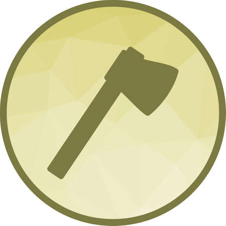 Axe, wooden, handle icon vector image. Can also be used for camping. Suitable for web apps, mobile apps and print media.