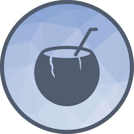 Coconut, drink, table icon vector image. Can also be used for camping. Suitable for use on mobile apps, web apps and print media.  イラスト・ベクター素材