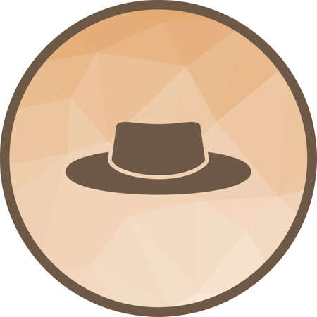 Hat, cap, style icon vector image. Can also be used for camping. Suitable for use on mobile apps, web apps and print media.  イラスト・ベクター素材