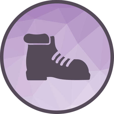 Hiking, boot, camping icon vector image. Can also be used for camping. Suitable for use on web apps, mobile apps and print media.  イラスト・ベクター素材