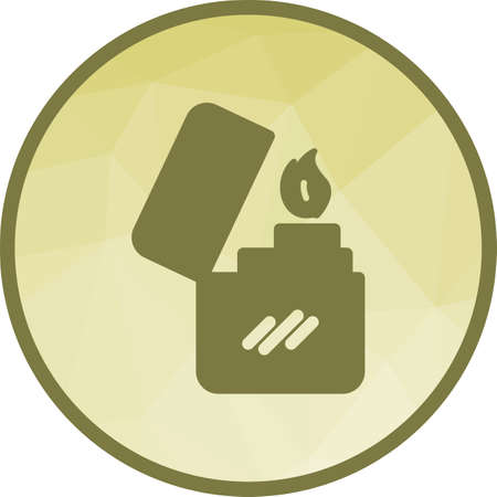 Lighter, cigarette, matches icon vector image.Can also be used for camping. Suitable for mobile apps, web apps and print media.