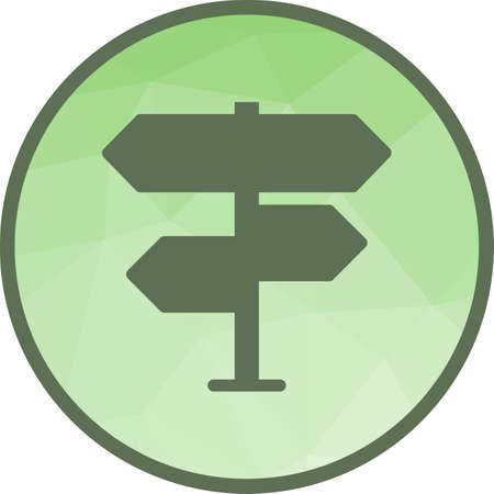 Sign, street, road icon vector image.Can also be used for camping. Suitable for mobile apps, web apps and print media.