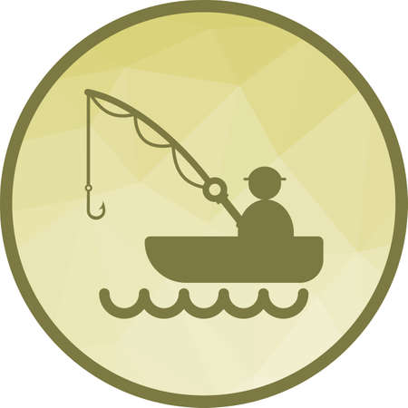 Fishing, river, nature icon vector image. Can also be used for camping. Suitable for use on web apps, mobile apps and print media.