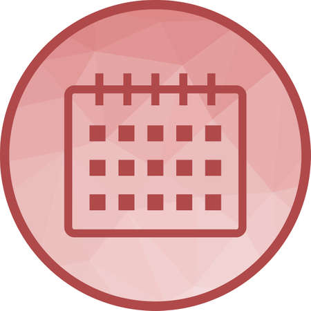 Calendar, event, year icon vector image. Can also be used for office. Suitable for use on web apps, mobile apps and print media.  イラスト・ベクター素材