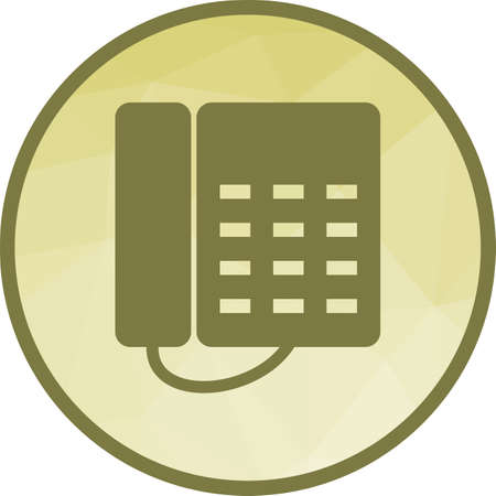 Telephone, office, dial icon vector image.Can also be used for office. Suitable for mobile apps, web apps and print media.  イラスト・ベクター素材