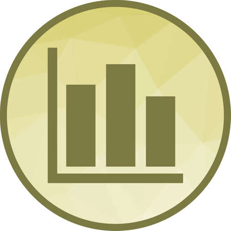Statistics, graph, computer icon vector image. Can also be used for office. Suitable for use on web apps, mobile apps and print media.  イラスト・ベクター素材