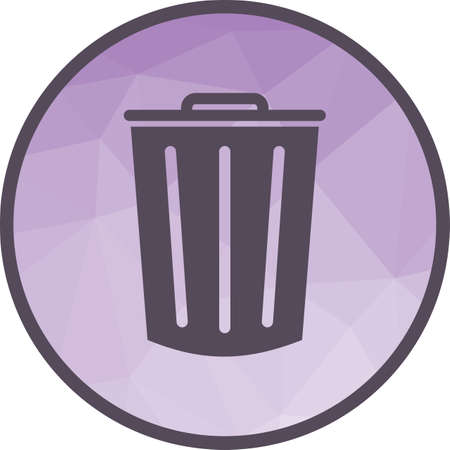 Dustbin, clean, office icon vector image. Can also be used for office. Suitable for use on web apps, mobile apps and print media.