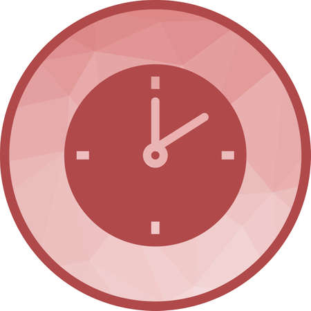 Clock, alarm, time icon vector image. Can also be used for office. Suitable for use on web apps, mobile apps and print media.  イラスト・ベクター素材