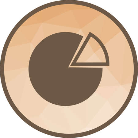 Pie, chart, graph icon vector image. Can also be used for office. Suitable for use on web apps, mobile apps and print media.