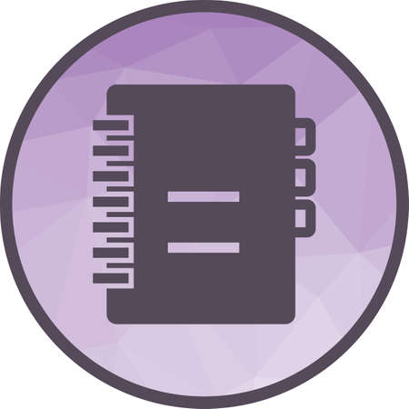 Notebook, diary, book icon vector image.Can also be used for office. Suitable for mobile apps, web apps and print media.