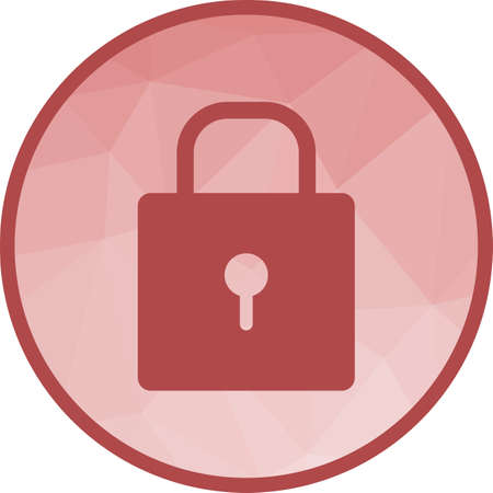 Lock, security, protect icon vector image.Can also be used for office. Suitable for mobile apps, web apps and print media.  イラスト・ベクター素材