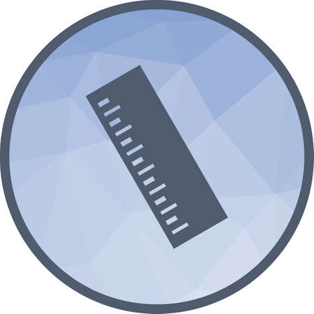 Ruler, number, office icon vector image.Can also be used for office. Suitable for mobile apps, web apps and print media.  イラスト・ベクター素材