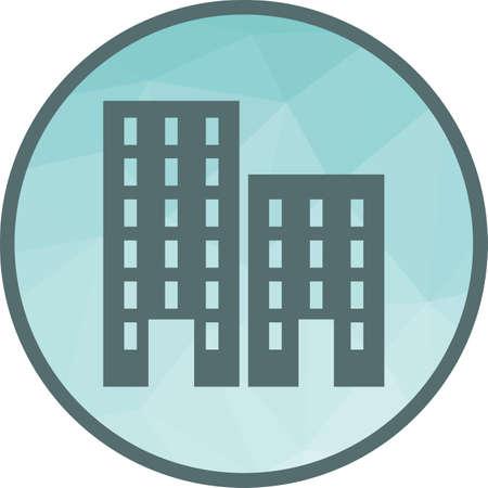 Imagen vectorial de icono residencial, plaza, negocio. También se puede utilizar para vivienda. Adecuado para aplicaciones móviles, aplicaciones web y medios impresos.