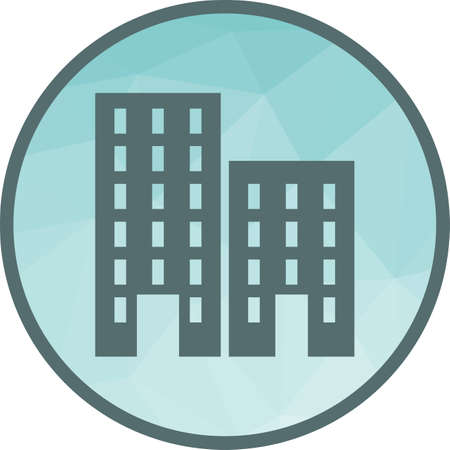 Residential, plaza, business icon vector image.Can also be used for housing. Suitable for mobile apps, web apps and print media.