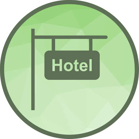 Hotel, service, business icon vector image.Can also be used for housing. Suitable for mobile apps, web apps and print media.