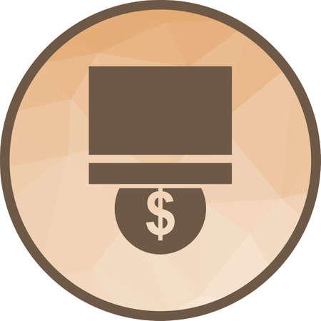 Moneda, banco, icono de ahorro de imagen vectorial. También se puede utilizar para la gestión empresarial. Adecuado para aplicaciones web, aplicaciones móviles y medios impresos.