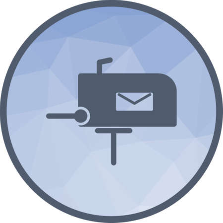 Post, letterbox, letter icon vector image. Can also be used for IT and communication. Suitable for use on web apps, mobile apps and print media. Illustration
