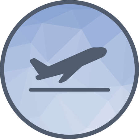 Airplane, off, flight icon vector image.Can also be used for material design. Suitable for mobile apps, web apps and print media. Banque d'images - 114897476