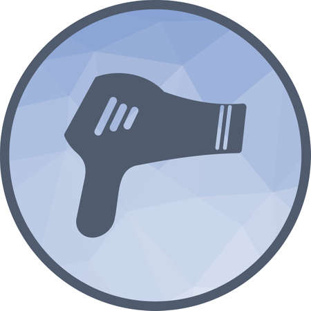 Dryer, hair, blow icon vector image. Can also be used for barber s tools. Suitable for use on web apps, mobile apps and print media.