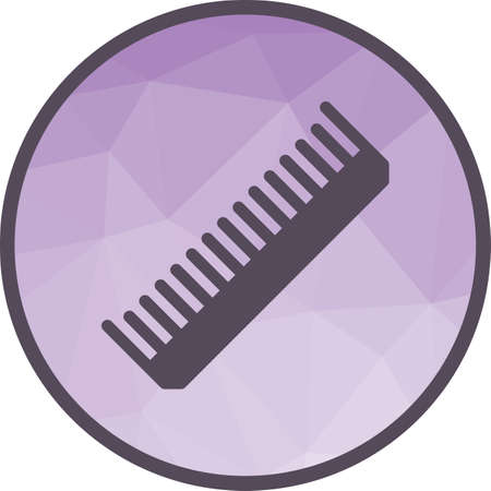 Comb, hair, fashion icon vector image. Can also be used for barber s tools. Suitable for web apps, mobile apps and print media.
