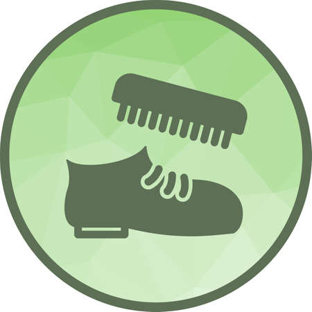 Shoe, polish, brush icon vector image.Can also be used for hotel and restaurant. Suitable for mobile apps, web apps and print media.