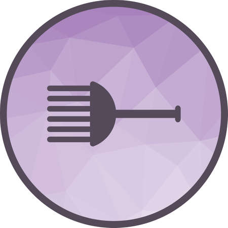 Hair, comb, brush icon vector image. Can also be used for barber s tools. Suitable for web apps, mobile apps and print media. Illusztráció