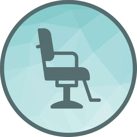 Chair, barber, salon icon vector image. Can also be used for barber s tools. Suitable for use on web apps, mobile apps and print media. Illusztráció