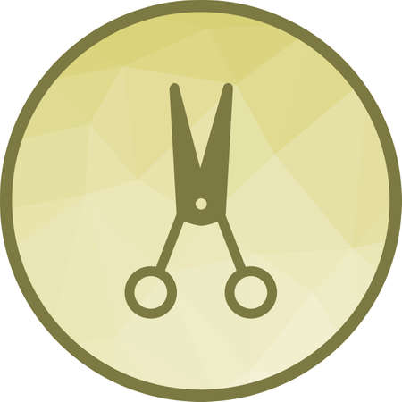 Scissors, open, hair icon vector image.Can also be used for barber s tools. Suitable for mobile apps, web apps and print media.  イラスト・ベクター素材