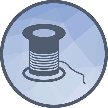 Threading, facial, skin icon vector image. Can also be used for barber s tools. Suitable for web apps, mobile apps and print media.