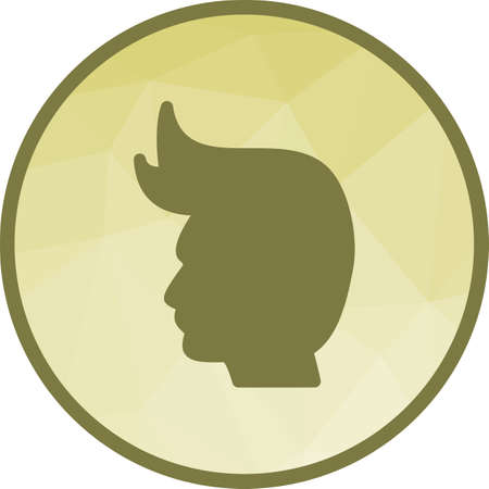 Model, hair, hairstyle icon vector image. Can also be used for barber s tools. Suitable for web apps, mobile apps and print media.